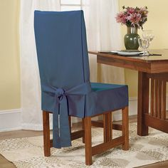 Sure Fit& Short Dining Chair Slipcover Kohls is part of Dining room chair slipcovers Slipcovers at Kohl& This Sure Fit dining chair slipcover features a durable duck cloth construction an - Dining Room Chair Slipcovers, Dining Room Chair Covers, Dining Room Chairs, Chair Seat Covers, Primitive Dining Rooms, Cafe Chairs, Lounge Chairs, Painted Chairs, Furniture Covers