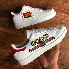 Behind The Scenes By kicks. Custom Sneakers, Sneakers Nike, Gucci Shoes, Nike Air Force, Behind The Scenes, Kicks, Top, Products, Fashion