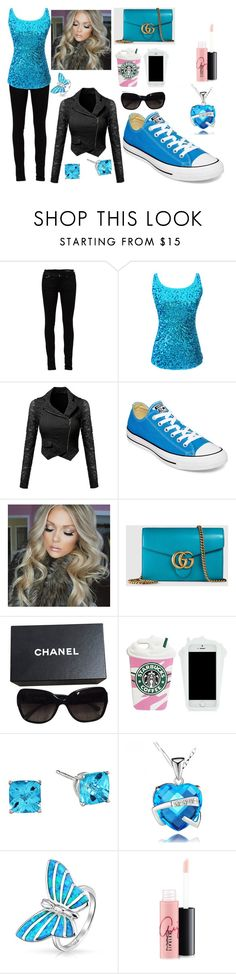 """""""So You"""" by sahara2313 ❤ liked on Polyvore featuring Yves Saint Laurent, Converse, Gucci, Chanel, Bling Jewelry and MAC Cosmetics"""