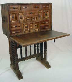 Lot 11 Very Early Museum Quality Spanish Vargueno Desk Number