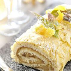 Bûche ananas-coco Les Recettes de l'Avent avec www.bellemartinique.com #martinique #Antilles #domtom #outremer #recetteantillaise #recettecreole