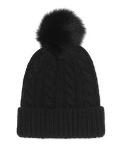 SHOP | ME+EM Shearling Pom Pom Hat in Black, £69 | @styleminimalism Christmas Gifts For Her, Pom Pom Hat, Diy Fashion, Peep Toe, Winter Hats, Shop My, Beanie, Slip On, Black