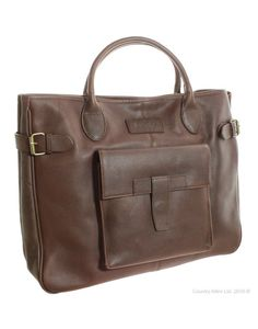Barbour Ladies Leather Business Tote Bag LBA0034BR: Amazon.co.uk: Clothing