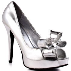 JustFab - Juliette (Silver) Heel