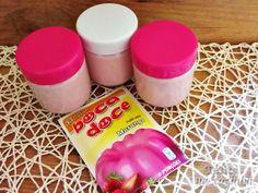 iogurtes caseiros com aroma de morango