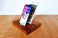 Check out this item in my Etsy shop https://www.etsy.com/listing/521159988/iphone-7-and-ipad-wood-dual-station-ipad