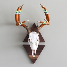 New Yarn Wrapped European Triangle Mounted Antlers for We Got Game Series via Cast & Crew on Fab.com March 11-18.