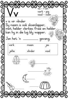 My sintuie - Afrikaans Graad 2 - Kwartaal 2 Grade R Worksheets, Writing Practice Worksheets, Kindergarten Math Worksheets, Preschool Learning Activities, Free Preschool, Afrikaans Language, Teaching Skills, Phonics, Napoleon Hill