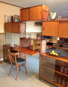 MID Century Vintage Ladderax String Style Modular Shelving Unit Room Divider by Kurrlson on eBay now