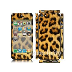 Animal Pattern Skin Cover Screen Protector for Apple iPhone 5 (Style 3) [CCSK-PHVPL19] - $12.00 : Leopard 1