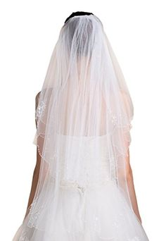Liveinu Womens Ribbon Edge Bridal Wedding Veil * Check out this great product.-It is an affiliate link to Amazon. #BridalVeils