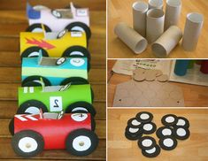 Projects For Kids, Diy For Kids, Crafts For Kids, Toilet Paper Roll Crafts, Paper Crafts, Diy Crafts, Kids Toilet, Paper Car, Kindergarten Art Projects
