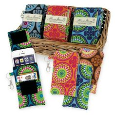 Olivia Moss cell phone caddy.  Stay organized and keep your cell phone protected.  #WalkOnWaterBoutiques #cellphonecase