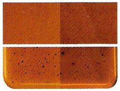 Bullseye Thin Iridescent 'Sienna Brown' Transparent 90 COE Glass #Bullseye