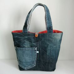 Jeans Bag-and-Basket in one: Turn your Bag into a Basket