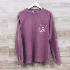 purple ivory ella long sleeve shirt