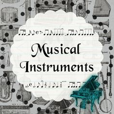 Free Vintage Musical Instruments Clipart