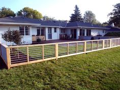 Add an architectural feature to your backyard with a modern-inspired fence made of corrugated sheet metal and galvanized conduit.