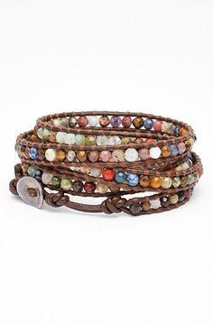Chan Luu Beaded Leather Wrap Bracelet on shopstyle.com