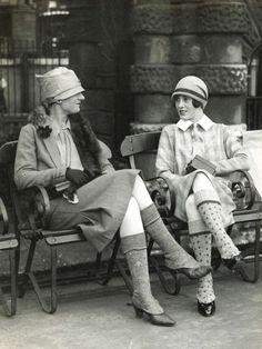 Seated ladies, Scotland 1926 (note what appears to be fashionable leg warmers!)