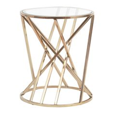 Add an artful touch to your living space with the Martel Side Table. Designed to reflect light, this sculptural table features a copper plated steel frame which