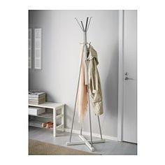 IKEA - TJUSIG, Stojan na kabáty a klobúky, biela,