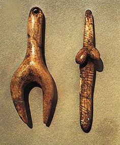 Venus  figurines stylized ivory, Aurignacian-Gravettian Dolní Věstonice, Mikulov, Moravia, Czech Republic