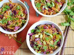 This colorful vegetable stir fry is packed with vegetables and drenched in a salty sweet sauce. Fast, easy, and customizable. @budgetbytes