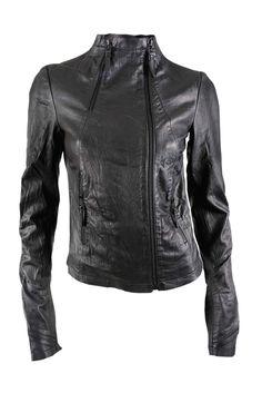 Barbara I Gongini leather jacket.