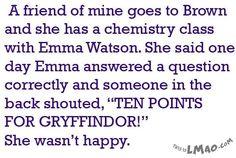 Get a laugh: Emma Watson