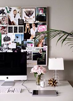 Fill your wall with a collage of pictures, magazine cutouts and posters. Mum says distraction - we say, CREATIVE.