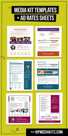 Free media kit template marketing style and to share for Advertising media kit template