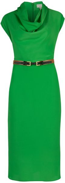ted baker London Bigua Cowl Neck Dress - Lyst