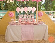 #bautizo #minnie #candy #table Candy Table, Table Decorations, Home Decor, Fiestas, Interior Design, Home Interior Design, Dinner Table Decorations, Home Decoration, Decoration Home