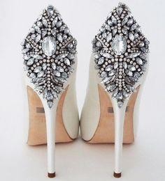 Perfect Details offers a range of couture jewelry and bridal accessories for your big day! Featuring these amazing white Kiara wedding shoes from Badgley Mischka, they are the perfect way to make an entrance and exit. White Wedding Shoes, Wedding Heels, Bridal Heels, Bridal Accessories, Bridal Jewelry, Jewelry Accessories, Platform Bridal Shoes, Badgley Mischka Shoes Wedding, Trendy Wedding