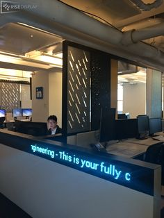 Unique in desk tickers for team members to communicate.