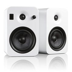 Kanto YUMI Premium Powered Bookshelf Speakers with Wireless Bluetooth 40 aptX Technology  Matte White -- Check out this great product.
