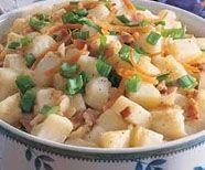 """This mouth-watering """"Appetizers"""" recipe for Hot German Potato Salad can be prepared in 20 minutes and serves 4-5 people."""