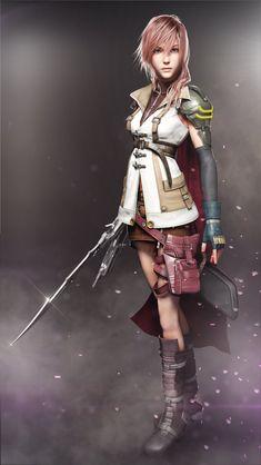 Lightning by AnubisDHL on DeviantArt Final Fantasy Anime, Final Fantasy Girls, Lightning Final Fantasy, Final Fantasy Artwork, Final Fantasy Characters, Female Characters, Anime Characters, Lightning Images, Manga Anime