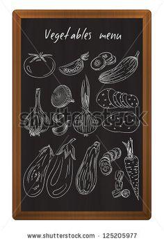Vegetables drawn in chalk on the blackboard by IreneAir, via Shutterstock