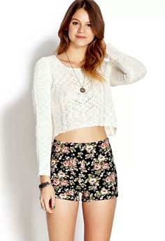 Cute high waisted shorts- Forever 21