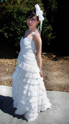 Weird wedding dresses - 6 dresses guaranteed to shock and impress - Toilet Paper Bride