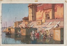 """Ghat in Benares"" 