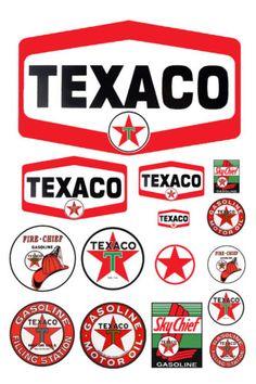 1:25 G scale model Texaco gasoline station gas signs   Brinquedos e hobbies, Modelos e kits, Dioramas   eBay!