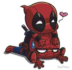 Spider-Man and Deadpool❤️ Chibi Spiderman, Chibi Superhero, Baby Spiderman, Deadpool Kawaii, Cute Deadpool, Deadpool Art, Deadpool Chibi, Chibi Marvel, Deadpool Drawings
