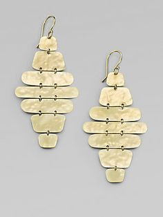 IPPOLITA Glamazon 18K Yellow Gold Disc Cascade Drop Earrings