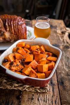 A sumptuous holiday feast, cooked with beer, with step by step recipes by Candied Sweet Potatoes, Cooking With Beer, Brew Pub, Beer Recipes, Holiday Recipes, Side Dishes, Food And Drink, Yummy Food, Meals