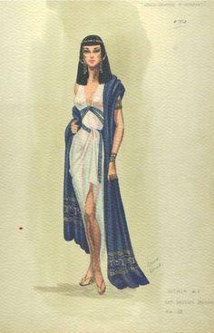 Edith Head - Esquisses et Croquis - Costumière - Les Dix Commandements - 1956…