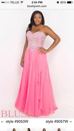 Blush prom plus size