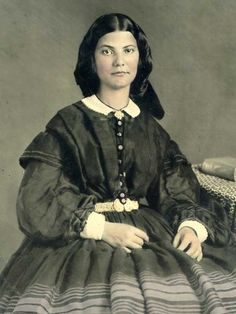 1850s Fourth Plate Tinted Ambrotype in Half Case Beautiful Young Lady